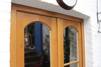 Stained hardwood French doors in Lewisham