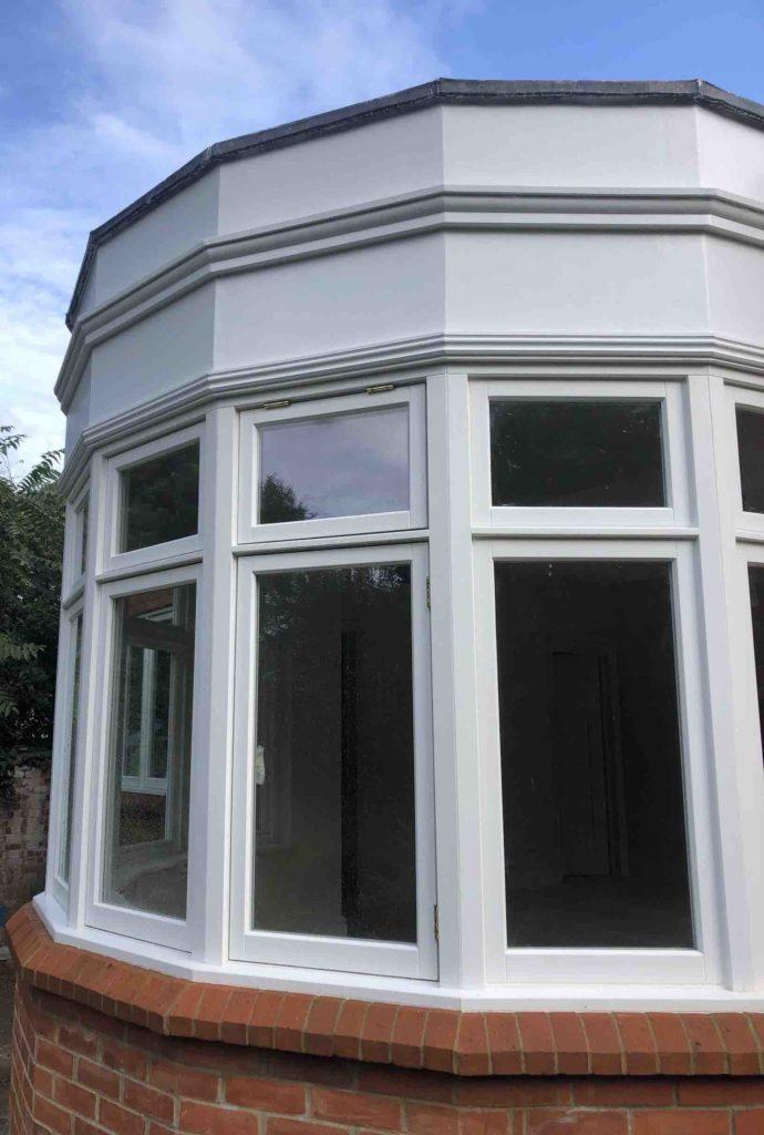 bay casement windows seen from the outside