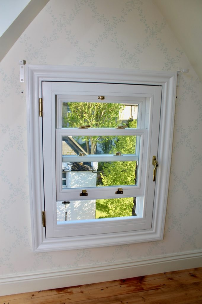 a sash window in Hampstead transformed in a safety fire escape