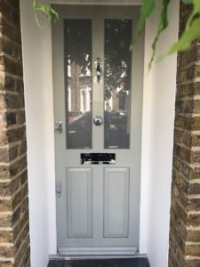 Bespoke timber entrance door in Queens Park London