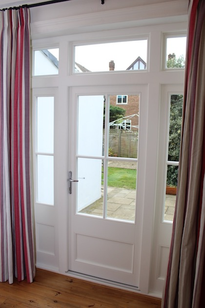 Single hardwood French door in kew.