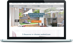 Sashed website on a MacBook